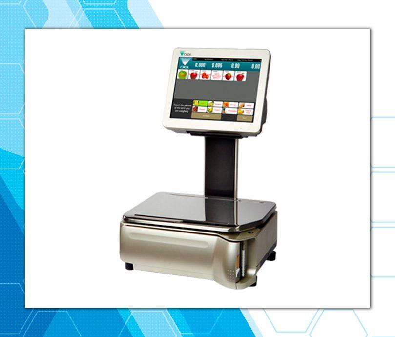 Waga elektroniczna z ekranem dotykowym
